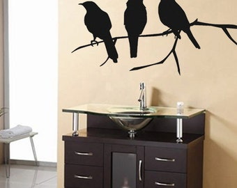 Vinyl Wall Decals - Crows Wall Decal - Birds - SALE 25 Buckaroos