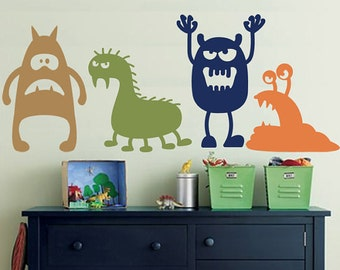 Wall Decal MONSTERS - Childrens Wall Decal