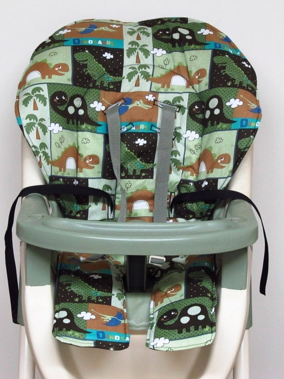 High Chair Cover Graco Pad Replacement Happy Dinosaurs
