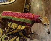 custom made dog sweater/ whippet sweater/ greyhound sweater
