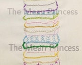 Princess and the Pea Hand Embroidery Pattern 2 Sizes