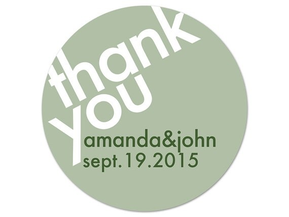 Personalized Wedding Labels - Custom Thank You Stickers - Custom Labels - Wedding Favor Stickers - Bridal Shower Labels - Thank You Labels