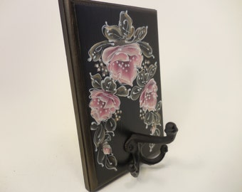 Hand Painted Clothes Rack by MontanaRosePainter, Pink Roses