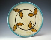 Lunch Plate with leaf Pattern