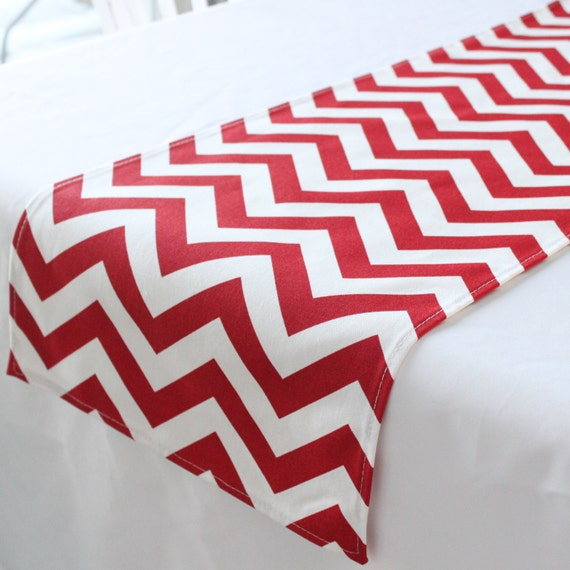 Red chevron table runner, Choose length, Valentines Day decor, Wedding table decor, Table linen, First birthday, Nursery runner, Baby shower