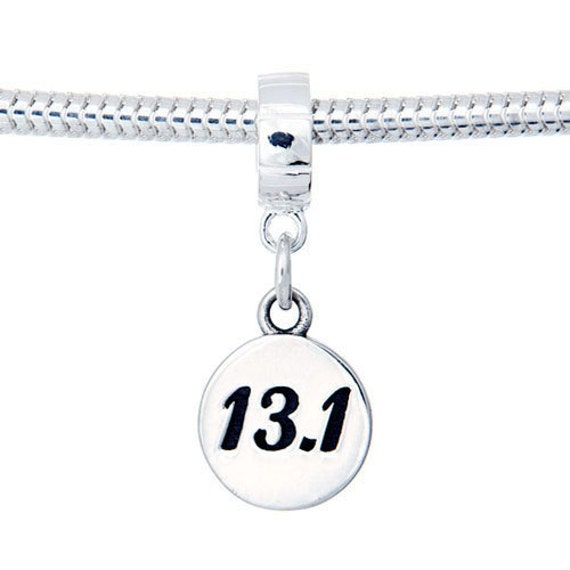 half marathon jewelry 13 1 sterling silver dangle charm bead