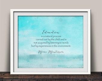 Maria Montessori Educational Quote Art Print