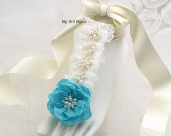 Barefoot Sandals, Ivory, Blue, Turquoise, Beach Wedding, Flats, Bridal, Destination, Foot Jewelry, Pearls, Crystals, Lace, Elegant, Lace up