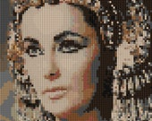 Portrait of Elizabeth Taylor as Celopatra counted Cross Stitch Pattern detailed digital download