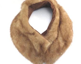 Light Brown Mink Coat Collar Vintage 1950s Pale Mink Collar