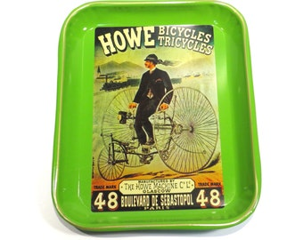 Howe Bicycles and Tricycles Vintage 1970s Serving Tray