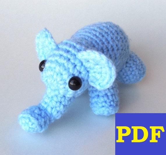 Sheep Amigurumi Crochet Pattern : PDF Crochet Amigurumi Animal Patterns: Tiny Elephant Amigurumi