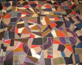 Vintage Handmade Crazy Quilt - Signed and Dated 1926/1927
