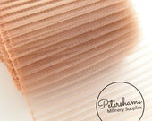 6 Inch (15.2cm) Wide Pleated Crinoline (Crin, Horsehair Braid) for Millinery, Hats and Fascinators - Blush