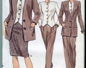 Vogue 7844-  Vintage 90s SeparatesPattern -  Skirt, Jacket and Pants
