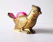 Vintage Brass Bird Tape Dispenser Fits Washi Tape Retro Office Decor