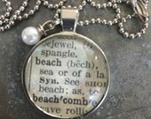 Dictionary Word Necklace - beach