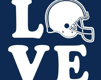Love Football Helmet Customize to All Sizes and Colors - TShirt , Vneck, Tank Top