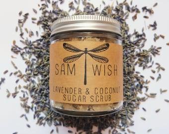 Lavender & Coconut Sugar Scrub // Small // Organic