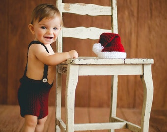 Crochet PATTERN Santa Set NEW Sizes  Baby & Toddler Christmas Photography Prop BOTH Boy and Girl