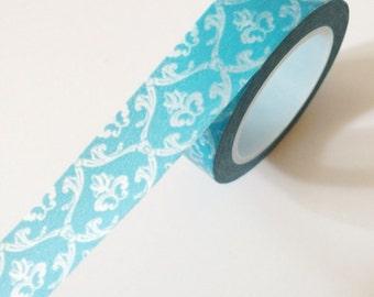 Blue Damask Washi Tape Paper Tape