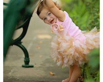 Pink and Gold Birthday Tutu Dress | 1st Birthday Tutu | Baby Birthday Tutu | Cake Smash Tutu | Tutu Skirt | Twinkle Little Star