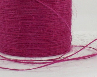Hot Pink/Fuchsia Twine, Burlap Twine, Pink Twine,Weddings, Gift Wrapping, Invitations, Scrapbooking Supplies, Bakers Twine, Jewelry Supplies