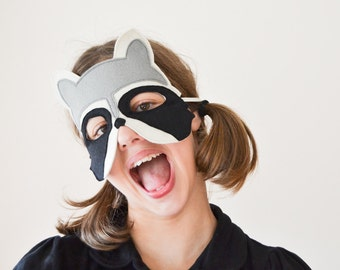Kids Raccoon Mask Carnival, Costume Children Pretend Play, Dress up Toy, Boys, Girls, Toddlers