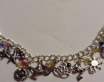 Disney princess charm bracelet with beads