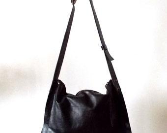 Black cross-body leather Bag