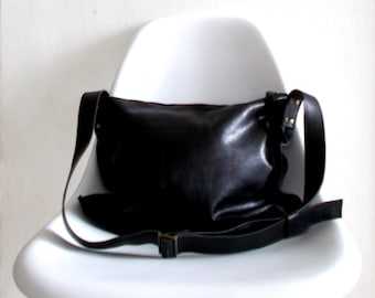 Black cross-body leather Bag