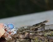 Nebula, Nebula Ring, Nebula Necklace, Opal Ring, Silver Ring, Filigree Ring, Adjustable Ring, Nebula Necklace, Spring gifts, Accessoires