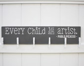 Every Child is An Artist // Art Work Display // Kid Wall Art // Pablo Picasso // Kid Signs // Child Artwork Hanger// Child's Art Display