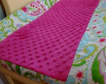 Choose From the Kumari Garden Fabrics- Deluxe Teja Contoured Changing Pad Cover with Minky