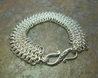 Chainmaille - European 4-in-1 Bracelet in Sterling Silver