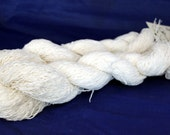 30% off STORE CLOSING SALE Recycled Yarn, White Ramie Cotton Yarn, Fingering Weight Yarn - 524 Yards