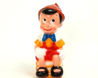 Pinocchio Play Plastics Bank 70s VGC