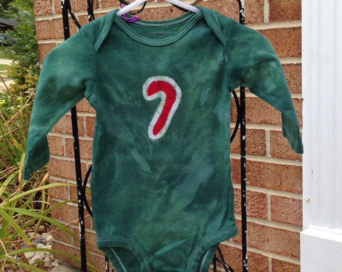 Featured listing image: Candy Cane Baby Bodysuit, Baby Christmas Shirt, Christmas Baby Bodysuit, Baby Boy Christmas, Baby Girl Christmas, Candy Cane (6 months)