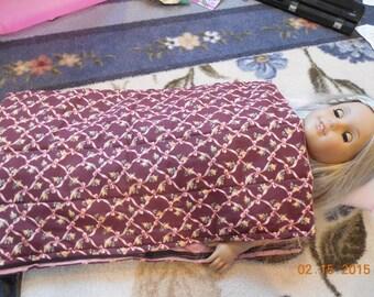 Sleeping Bag & Pillow for 18 inch dolls, American Girl