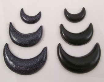 Sailor Moon Wicked Lady Black Resin Crescent Moon Costume Cosplay Accessories Forehead Tiara Earrings Boots