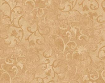 Gold Scroll Fabric 89025 221 Wilmington Prints