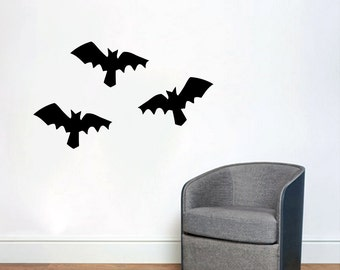 bats seasonal halloween wall decals