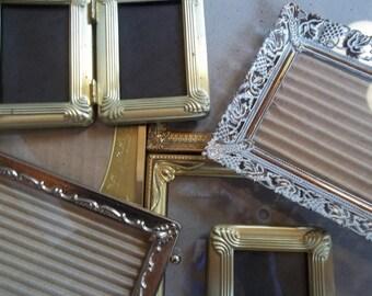 Vintage - Frames - Eight - Gold Metal - Ornate Decor - Antique Metal Frames - Home Decor Glamour
