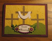 Card Kit: Easter Cross Trio Jesus Blessings Grass Stampin Up Handmade card