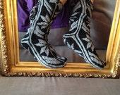 Christmas Gift, Long Slippers, Warm Slippers, Mukluk, Leg Warmers, Long Slippers