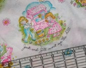 Vintage PJ pajama fabric 70s lot of 3 yards