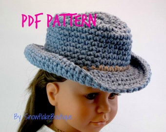 PDF PATTERN for Western Cowboy Hat  for  18 inch Doll