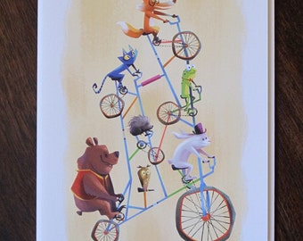 Tall Bike Blank Card