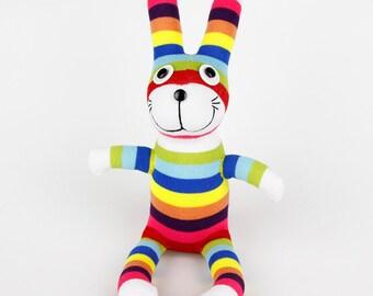 Handmade Sock Rabbit/bunny Stuffed Animal Doll Baby Toys easter gift Christmas Gift New Year Gift Birthday Gift