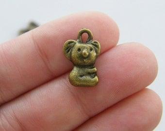 10 Koala charms antique bronze tone BC10